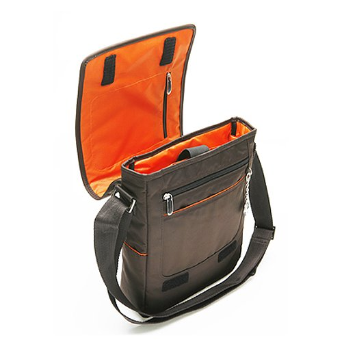CaseCrown Vertical Multi Pocket Messenger Bag (Chocolate Brown) Gateway LT2022u 10.1-Inch Black Netbook