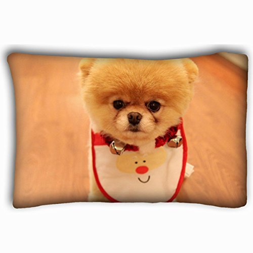 Personalized Pillowcases Queen Size, Customized Cute Dog Wallpaper Animals Decorative Zippered Pillow Case
