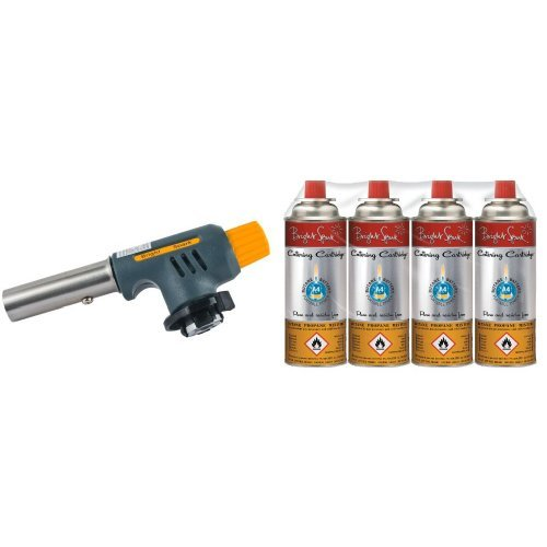 bright-spark-1-piece-12-x-45-x-6-cm-catering-blowtorch-with-bright-spark-catering-gas-cartridge-220-