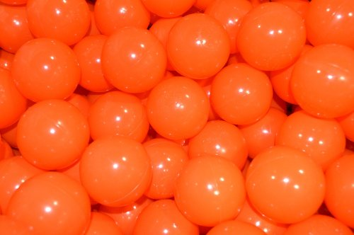 My Balls Pack Of 500 Halloween Theme Commercial Crush-Proof Ball Pit Balls - Pumpkin Orange Color Only