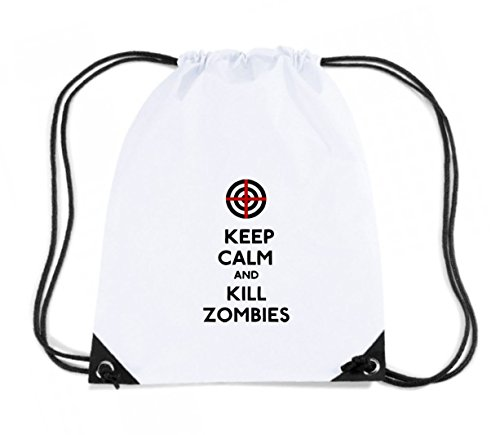 T-Shirtshock - Zaino Zainetto Budget Gymsac TZOM0007 keep calm and kill zombies, Taglia Capacita 11 litri