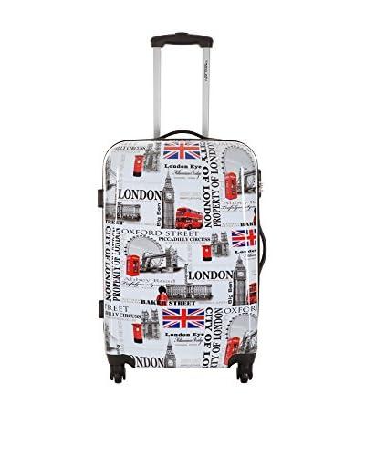 Travelone Hartschalen Trolley  60.0 cm weiß/rot