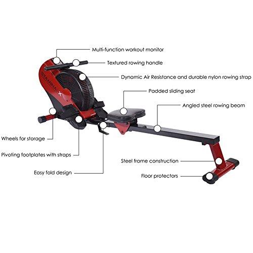 stamina x air rowing machine