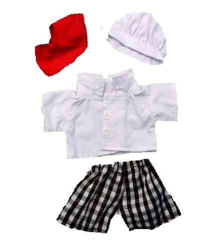 "Chef Outfit with Hat Fits Most 8""-10"" Webkinz, Shining Star and 8""-10"" Make Your Own Stuffed Animals and Build-A-Bear"