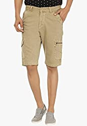 Fever Beige Cotton Denim Shorts for Man-34