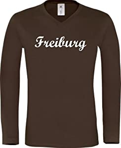 Shirtstown Longshirt Deine Stadt Freiburg City Shirts Sport, kult, Größe S-XXL