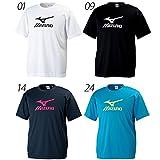 Mizuno ミズノ/メンズ 半袖 Tシャツ クロスティック トレーニングウェア 吸汗速乾 ビッグロゴ/32JA6155 (L, (14)Dネイビー/マゼンタ )