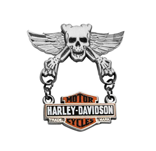 Harley-Davidson Skull Wings with Trademark B&S Dangler Pin