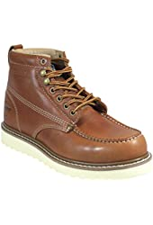 Golden Fox Oil Full Grain Leather Moc Toe Light Weight Outsole Work Boot