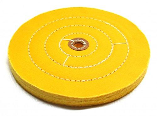 "Buffing Wheel 8 Inch- Hard Premium - 1/2"" Arbor, Leather Centers"