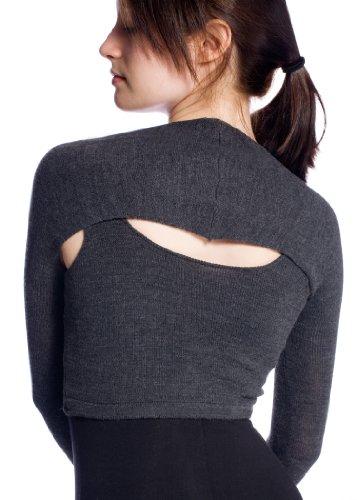 New York Black Medium Stretch Knit Ballet Shrug By Kd Dance New York Designed By Dancers For Dancers