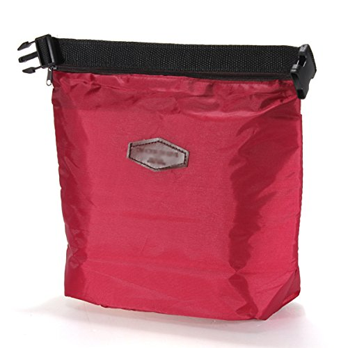 SonlineThermique glaciere portable etanche Lunch Box de stockage sac pique-nique Pouch - vin rouge