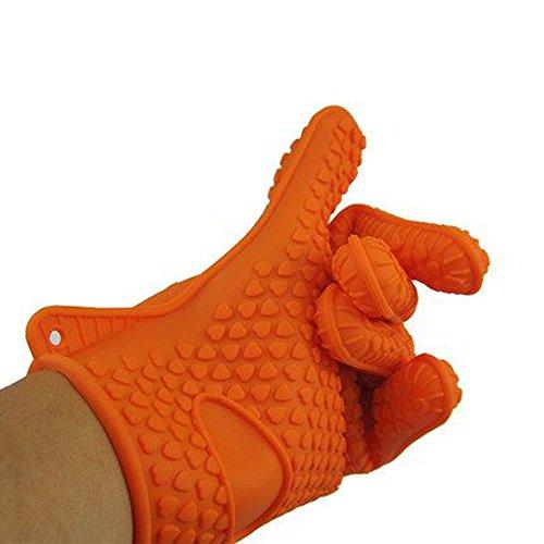 #1 Silicone BBQ Gloves Heat Resistant Cooking Gloves, Grills Gloves & Potholder