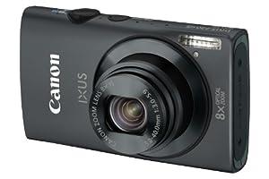 Canon IXUS 230 HS Digital Camera - Black (12.1 MP, 8x Optical Zoom) 3.0 inch LCD