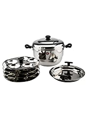 Embassy Stainless Steel Idli Maker / Pot With Steamer,20 Idlis