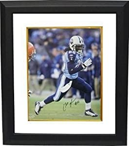 Chris Johnson Autographed Hand Signed Tennessee Titans 8x10 Photo Custom Framed by Hall of Fame Memorabilia
