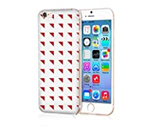 buy Mypolaroid Apple Iphone 6S Plus Case ,Personalized Popular Design , Tpu Transparent Skin Scratch-Proof Case For Iphone 6S Plus (2015)/ 6 Plus / 6P (2014)(New)--White Bottom And Red Shapes
