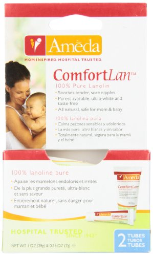 Ameda Comfortlan 100% Pure Lanolin Soothes Tender Sore Nipples front-1002747
