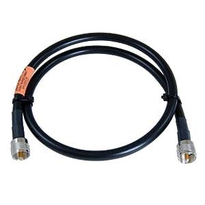 JEFA Tech RG-213/U MILSPEC - 3 Foot Jumper - UHF Male - PL-259 - for Ham and CB