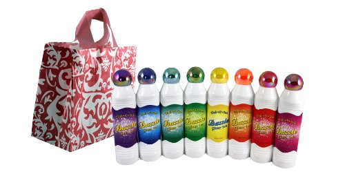 Bundle Pack of Dazzle Glitter Bingo Dauber Ink Pack Mixed Colors With Designer Deals Gift Bag 8 Pack