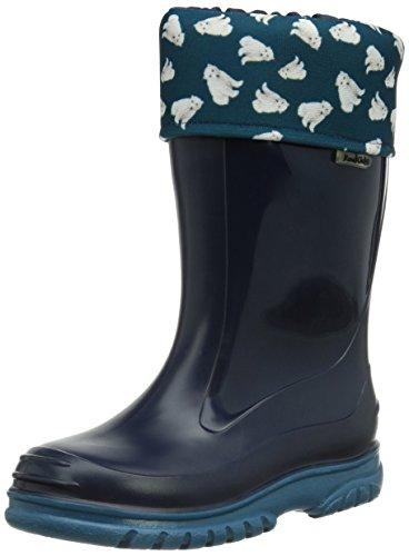 Romika, Stivali di gomma, altezza metà polpaccio dettaglio orso bianco Unisex - bambino, Blu (Blau (marine-petrol 594)), 28 (10 uk)