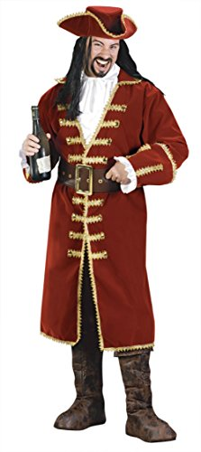 Funworld Mens Pirate Captain Morgan Blackheart Fancy Costume