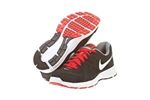 Nike Men's NIKE REVOLUTION 2 RUNNING SHOES 10.5 Men US (BLACK/WHITE/VARSITY RED/CL GRY)