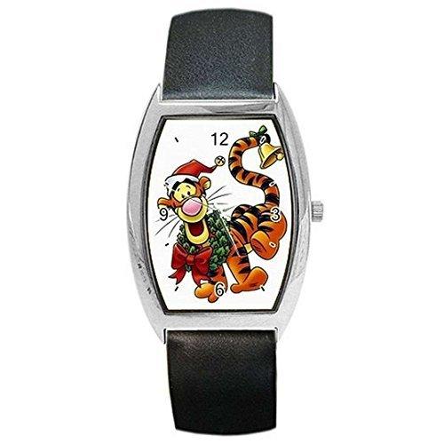 Ghirlanda natalizia (Winnie the Pooh Tigro) W/su un orologio da donna o ragazza Barrel...