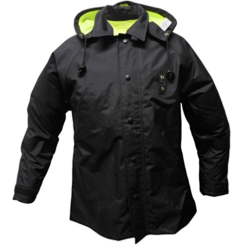 Solar 1 Clothing RRS2 High Visibility Reversible Police Rain Jacket, Lime/Black, Medium
