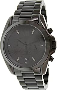 Michael Kors Bradshaw Chronograph Black Dial Black Ion-plated Unisex Watch MK5550