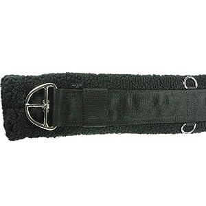 Intrepid International Western Fleece Cinch Girth, Black, 28-Inch