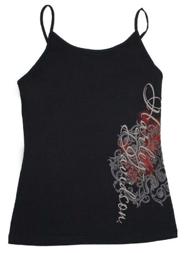 Harley-Davidson® Women's Scrolls Cami. Black Camisole. Sleeveless Tank. 86083
