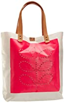 Orla Kiely Punched Stem Tarpaulin Willow 13SBTRP067-3200-00 Tote,Neon Pink,One Size