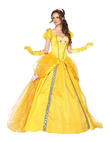 Deluxe Belle Adult Costume Sm Adult Womens Costume