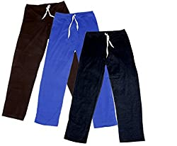 Indistar Women's Stretchable Premium Cotton Lower/Track Pant(Pack of 3)_Brown::Brown::Blue::Black_Free Size