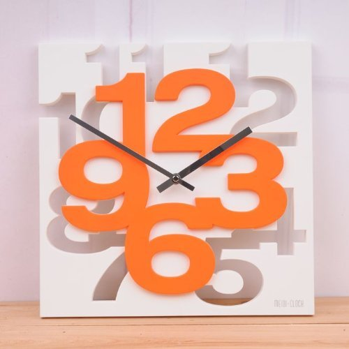 Inspirational Quotes Wall Art · 3D Unique Creative Wall Square Clock Home  Decor · DIY Orange ...