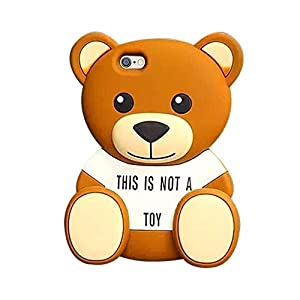 iPhone 6 Plus 6S Plus Case, Anya 3D Cute Bow Superhero Series Style Cartoon Soft Rubber Silicone Back Shell Case Cover Skin for Apple Iphone 6 6S Plus 5.5 inch STORM MART Cute Bear Series at Gotham City Store