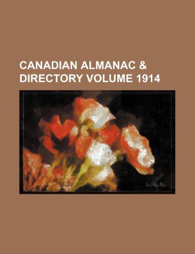 Canadian almanac & directory Volume 1914