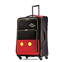American Tourister Disney Mickey Mouse Pants Softside Spinner 28, Multi, One Size