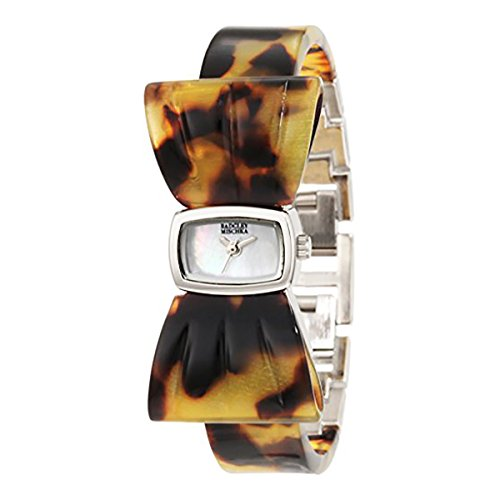 badgley-mischka-womens-ba1179mpto-silver-tone-tortoise-plastic-bow-shaped-bangle-bracelet-watch