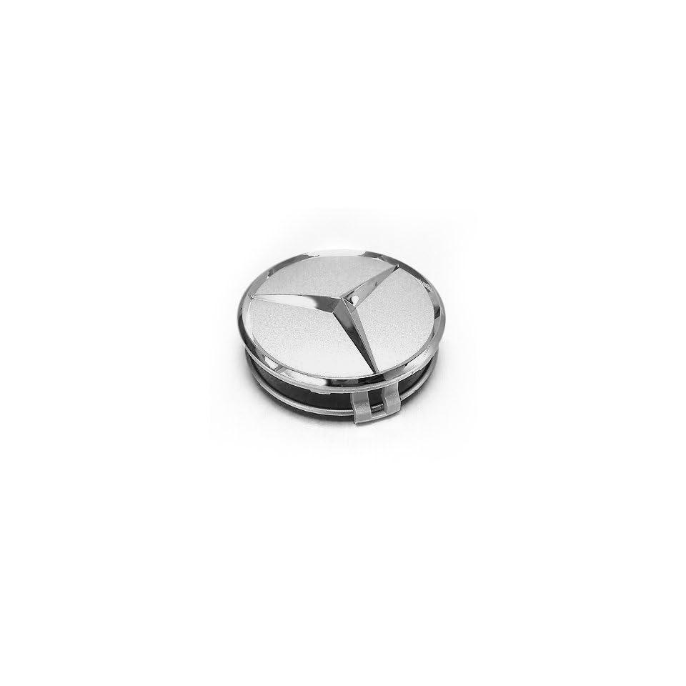 Mercedes Benz Logo Silver Wheel Center Cap