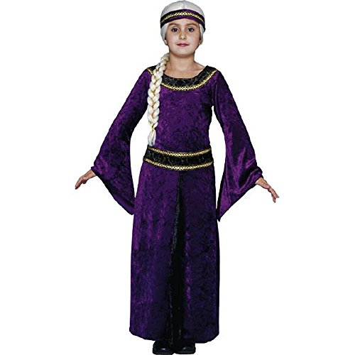 Purple Guinevere Renaissance Child's Costume (Size: Small 4-6)