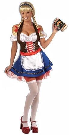 Forum Oktoberfest Fraulein, Red/White/Blue, Medium Costume