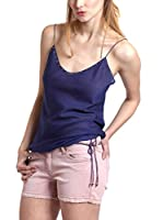 Mine de Rien Top Seda Easy Top (Azul)