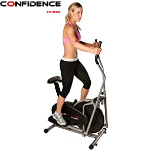 Amazon.com : Confidence Fitness 2-in-1 Elliptical Trainer with Seat