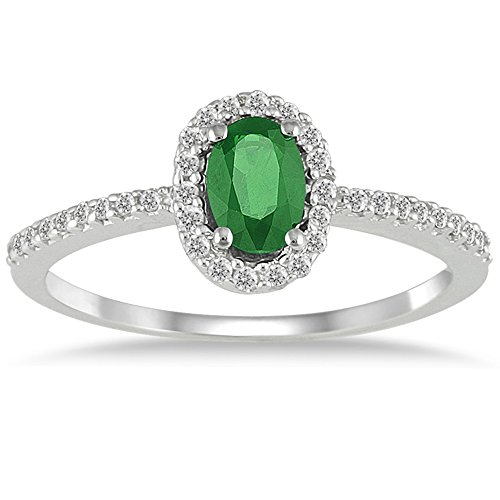 emerald-and-diamond-halo-ring-in-10k-white-gold