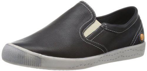 SOFTINOS Womens Isadora Loafers P900166500 Black 3 UK, 36 EU