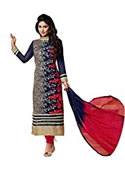 FashionPulse4U Heena Only Blue Semi Stiched Dress Material