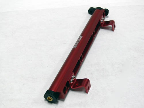 OBX Red Fuel Injection Rail for 00-04 Ford Focus 2.0L Zetec (except SVT) (Svt Focus Fuel Rail compare prices)
