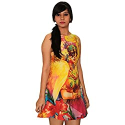 Nitra Women's A-Line Dress_DRCF_Multicoloured_M